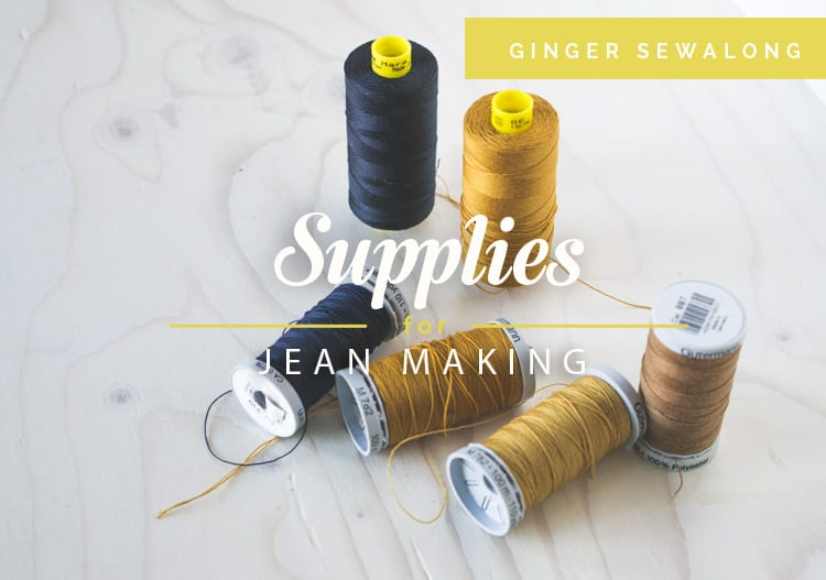 Ginger Jeans Pattern_Supplies
