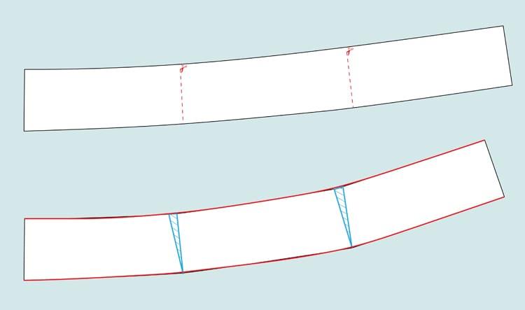 curving contour waistband