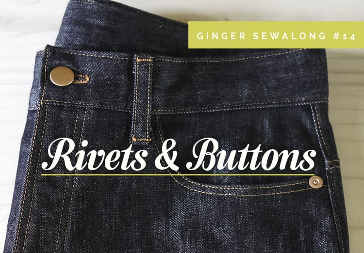 installing denim rivets and buttons