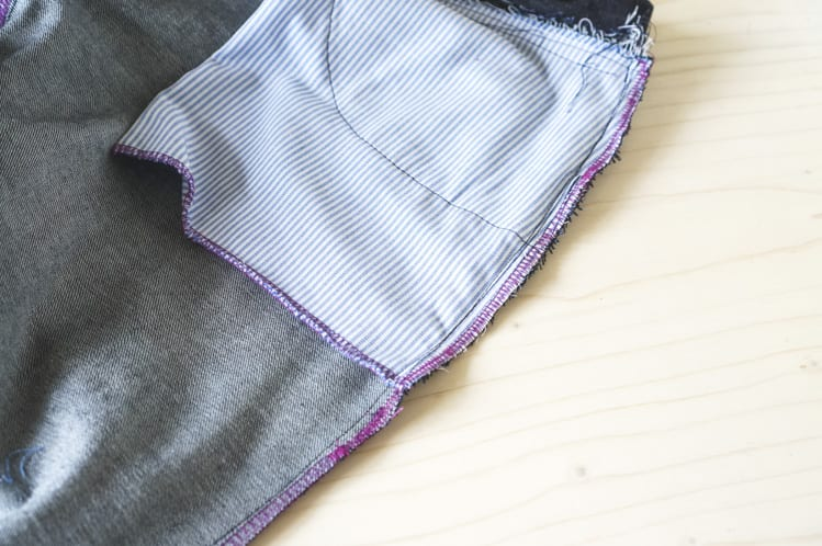 sewing side seams