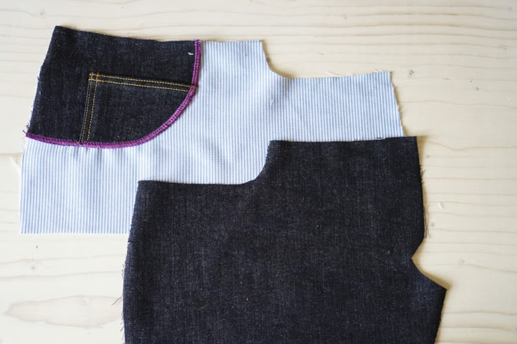 ginger skinny jeans pattern - assembling pockets-11