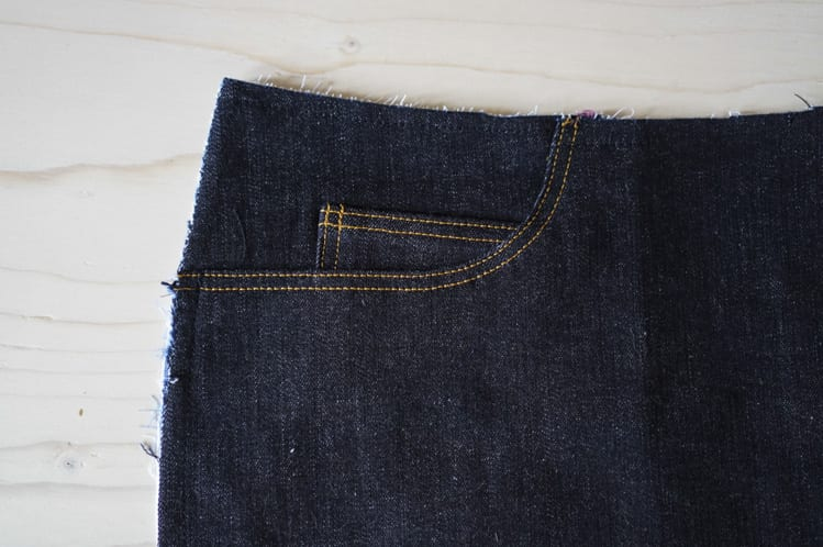ginger skinny jeans pattern - assembling pockets-27