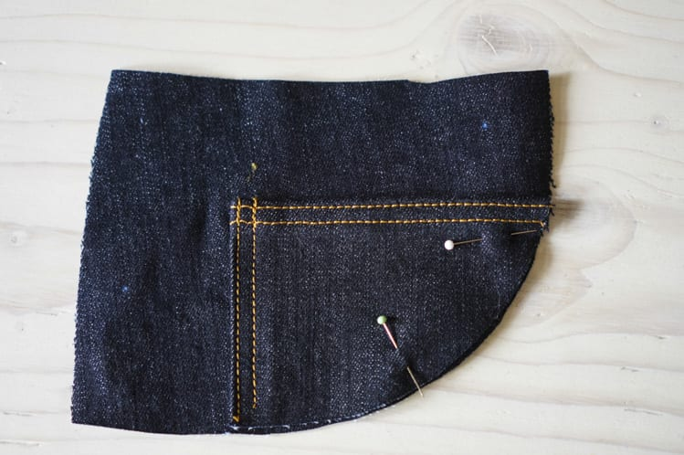 ginger skinny jeans pattern - assembling pockets-5
