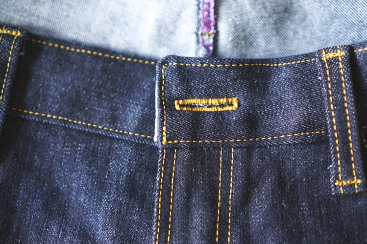sewing jean buttonhole