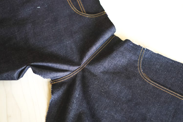 topstitching fly front