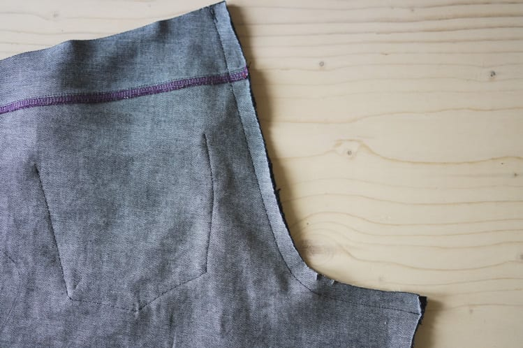 sewing the center back seam