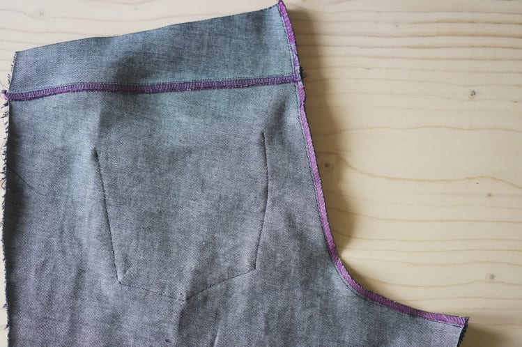 sewing center back seam
