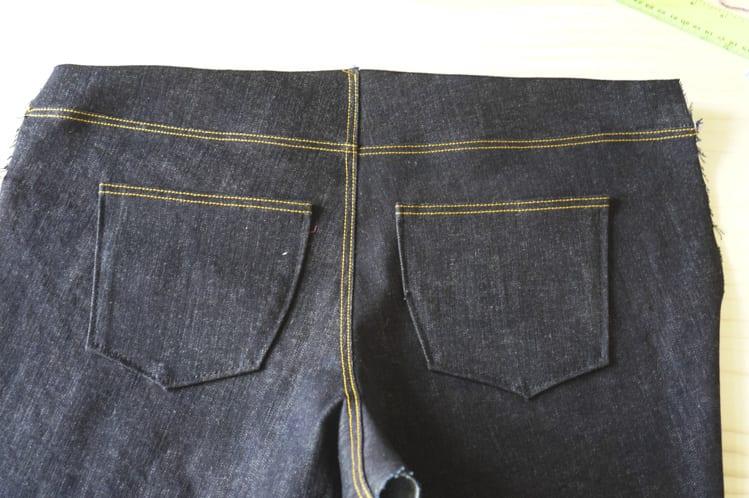 Ginger Jeans Sewalong: Assembling the back legs