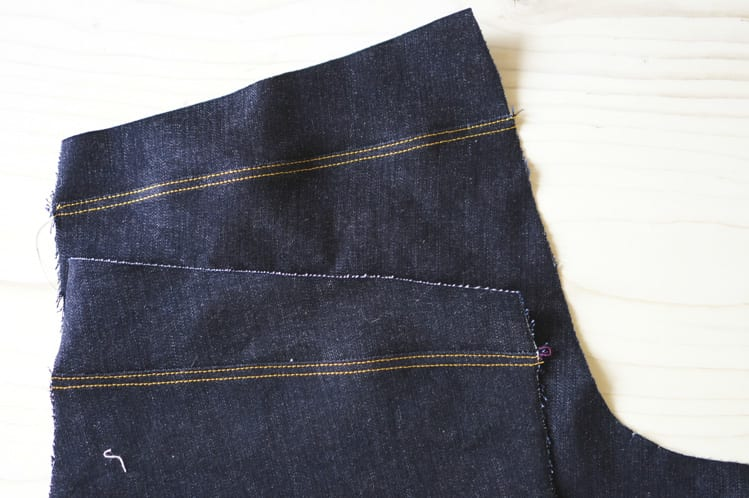 ginger skinny jeans pattern - sewing the back seams-6