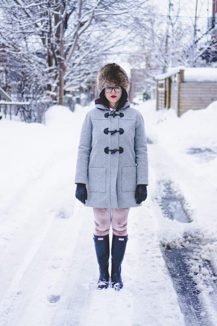 Grey wool duffle coat | Grainline Cascade Coat sewing pattern | Closet Case Files // closetcasefiles.com