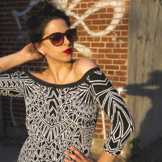 Off the shoulder DIY Dress | Nettie Dress & Bodysuit sewing pattern | Closet Case Files // closetcasefiles.com