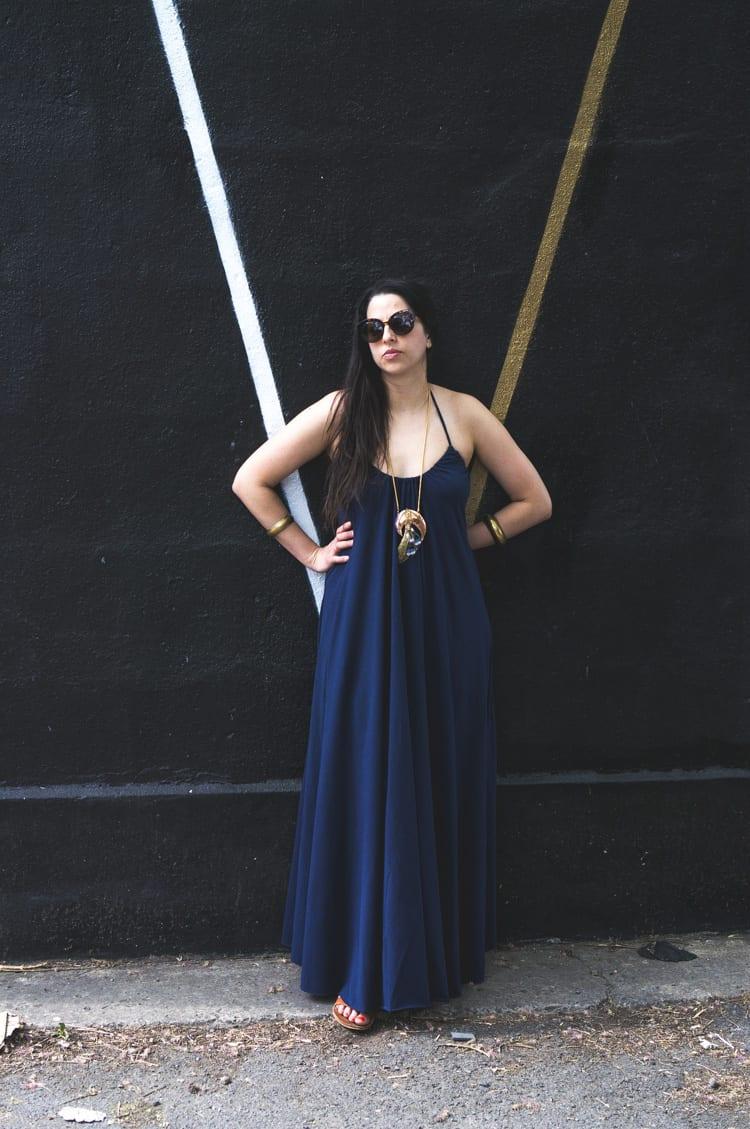 knit maxi dress DIY