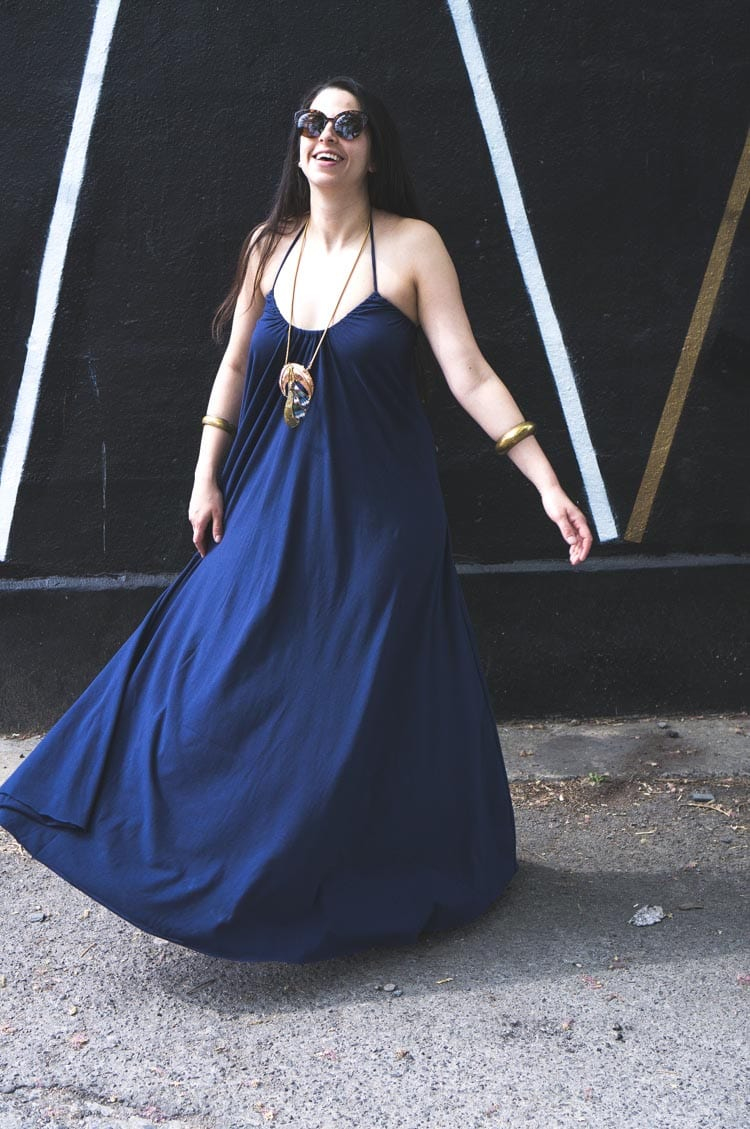 SUMMER MAXI DRESS DIY WITH ART GALLERY FABRIC | Closet ...