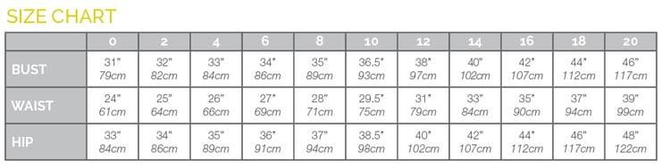 Closet Case Files size chart