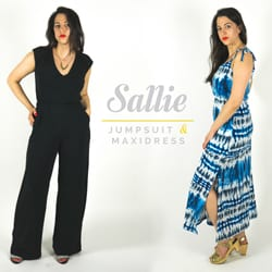 Sallie jumpsuit and maxi dress pattern