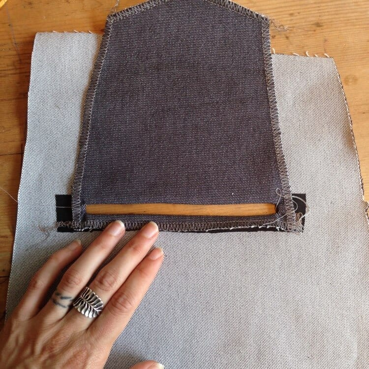 sewing month hacking a jean skirt with