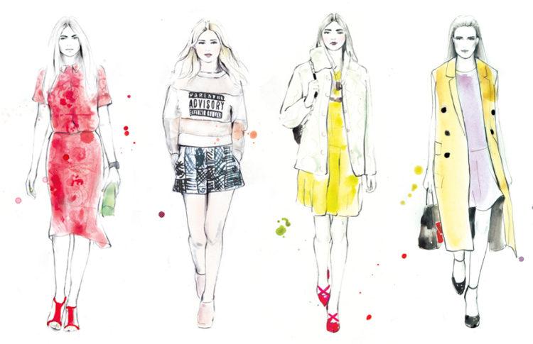 Fashion illustrations inspiration // Closet Case Files