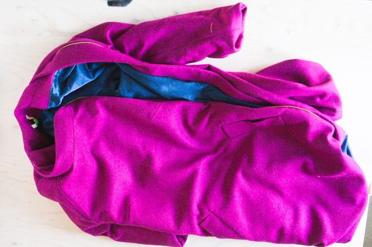 Clare Coat_Bagging a coat lining