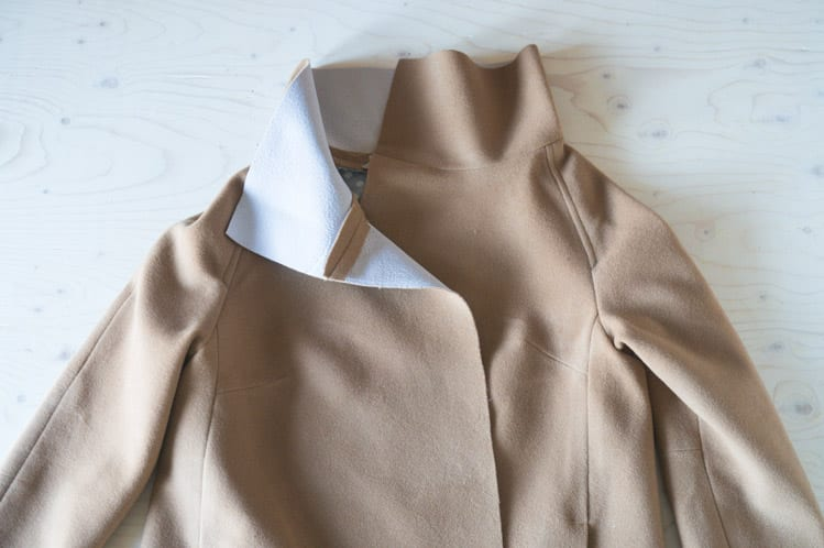 Sewing a funnel collar // Clare Coat Sewalong // Closet Case Files