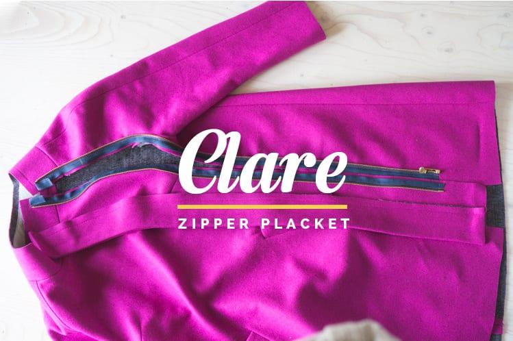 How to insert and sew a coat zipper and zipper placket // Clare Coat Sewalong // Closet Case Files