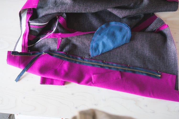 How to insert and sew a coat zipper // Clare Coat Sewalong // Closet Case Files