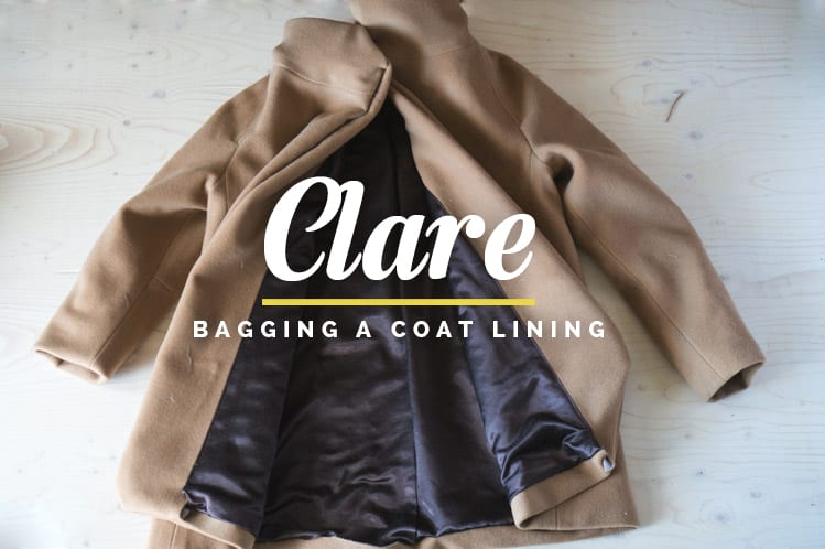How to bag a coat lining // Clare Coat Sewalong // Closet Case Files