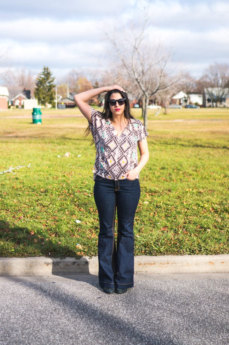 Flare bootcut jeans pattern2