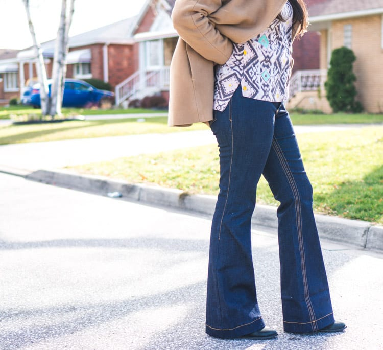 Flared Jeans // Ginger Jeans Pattern expansion // Closet Case Files