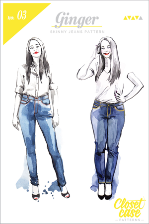 Ginger-Jeans-Sewing-Pattern-Envelope-cover