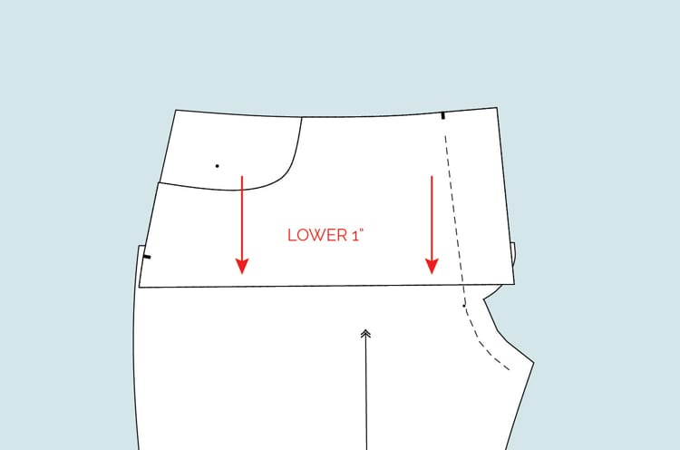 How to draft mid-rise Ginger Jeans // Closet Case Files