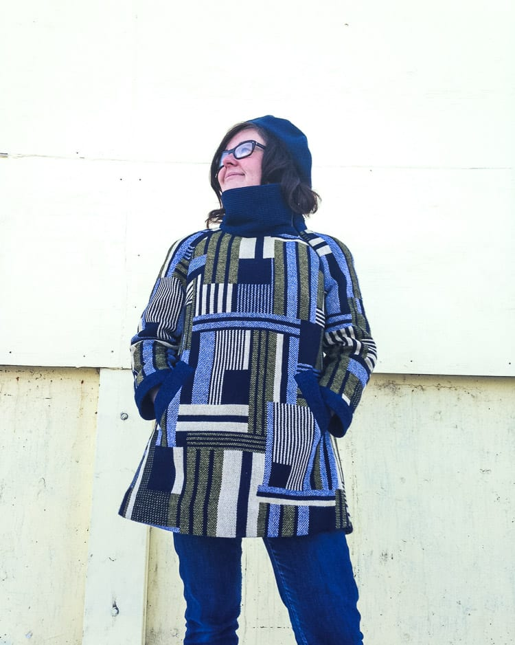 Clare Coat pattern with vintage fabric // Closet Case Files