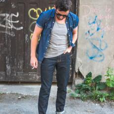 Sewing jeans for men // Jedidiah Pants pattern - Jeans hack // Closet Case Files