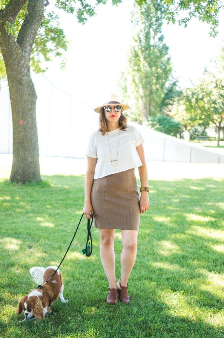 Linen Inari tee + deer and doe brume skirt