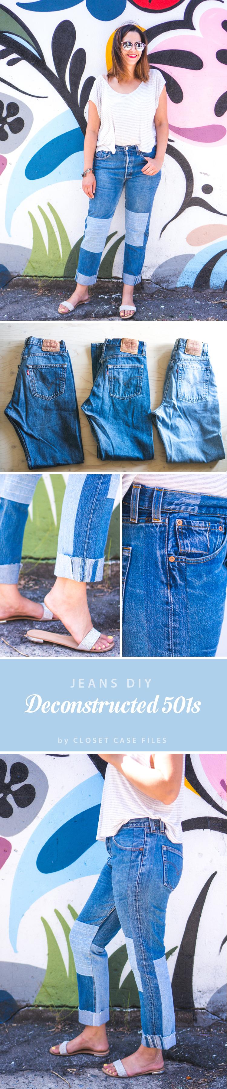 Deconstructed-Jeans-vintage-Levi-501s