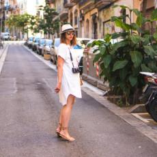 Self drafted white linen shirt dress pattern // Closet Case Files