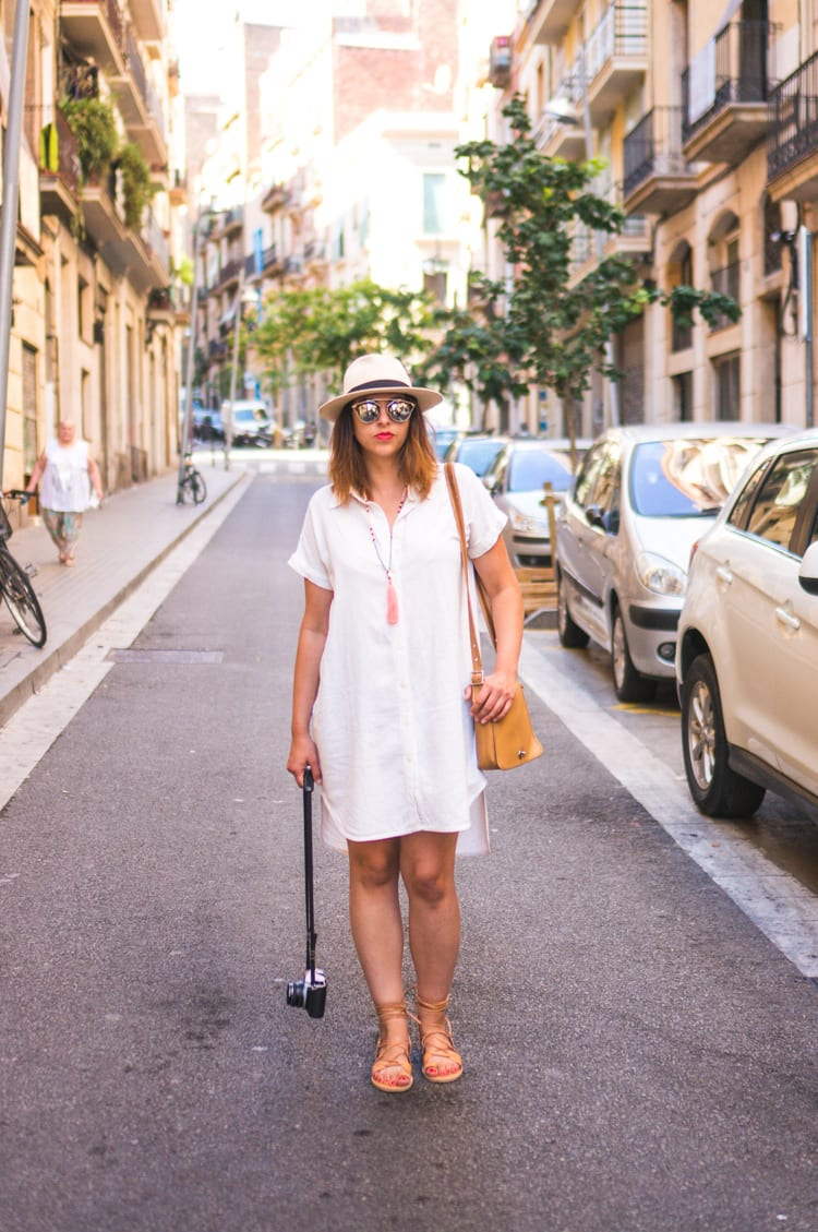 Self drafted white linen shirt dress pattern // Closet Case Files
