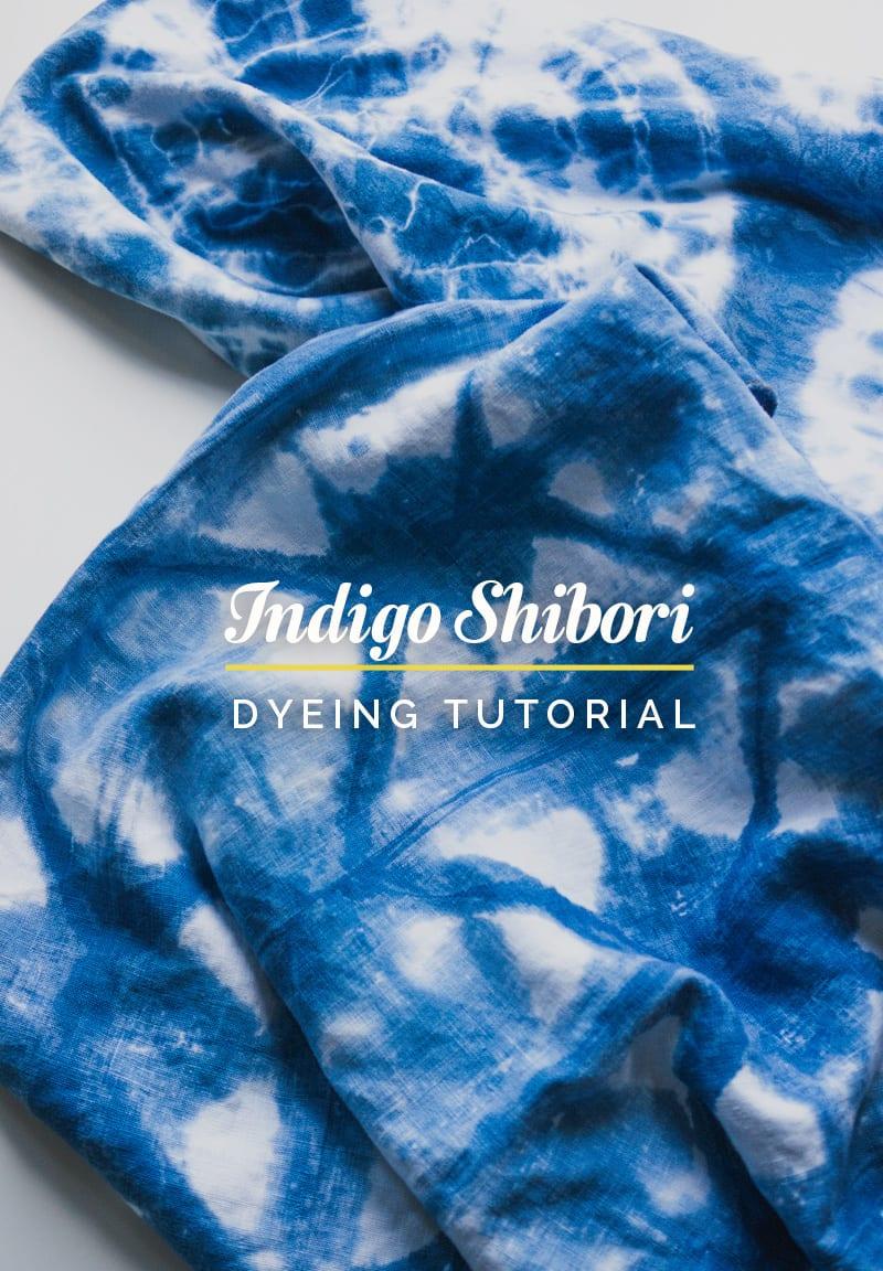 Indigo Shibori Dyeing Techniques Tutorial Marmotte