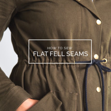 Flat fell seam tutorial // Closet Case Patterns