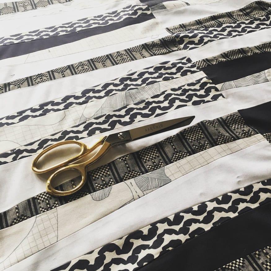Black and white quilt // Closet Case Patterns