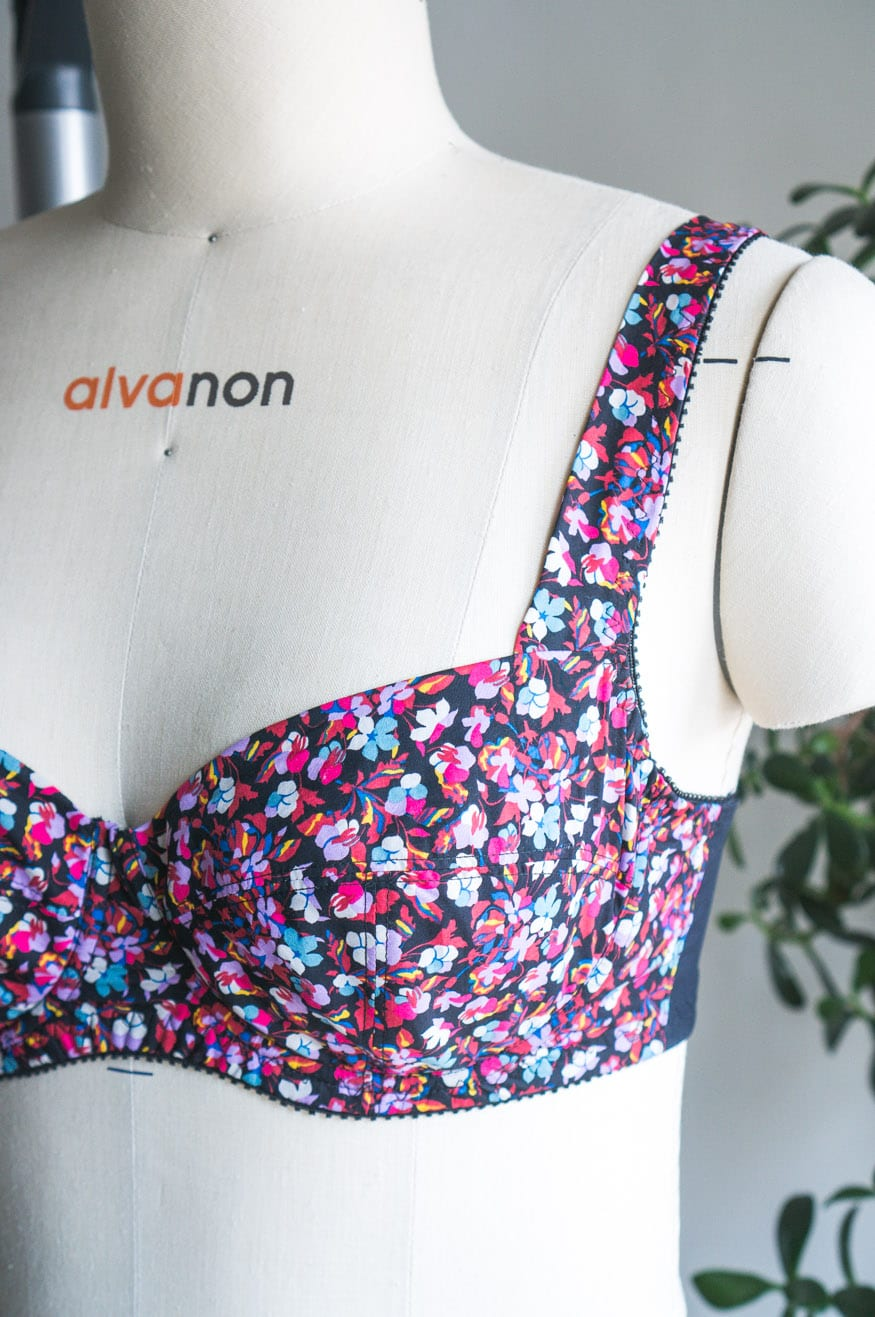 Boylston Bra in Liberty Print Tana Lawn // Closet Case Patterns