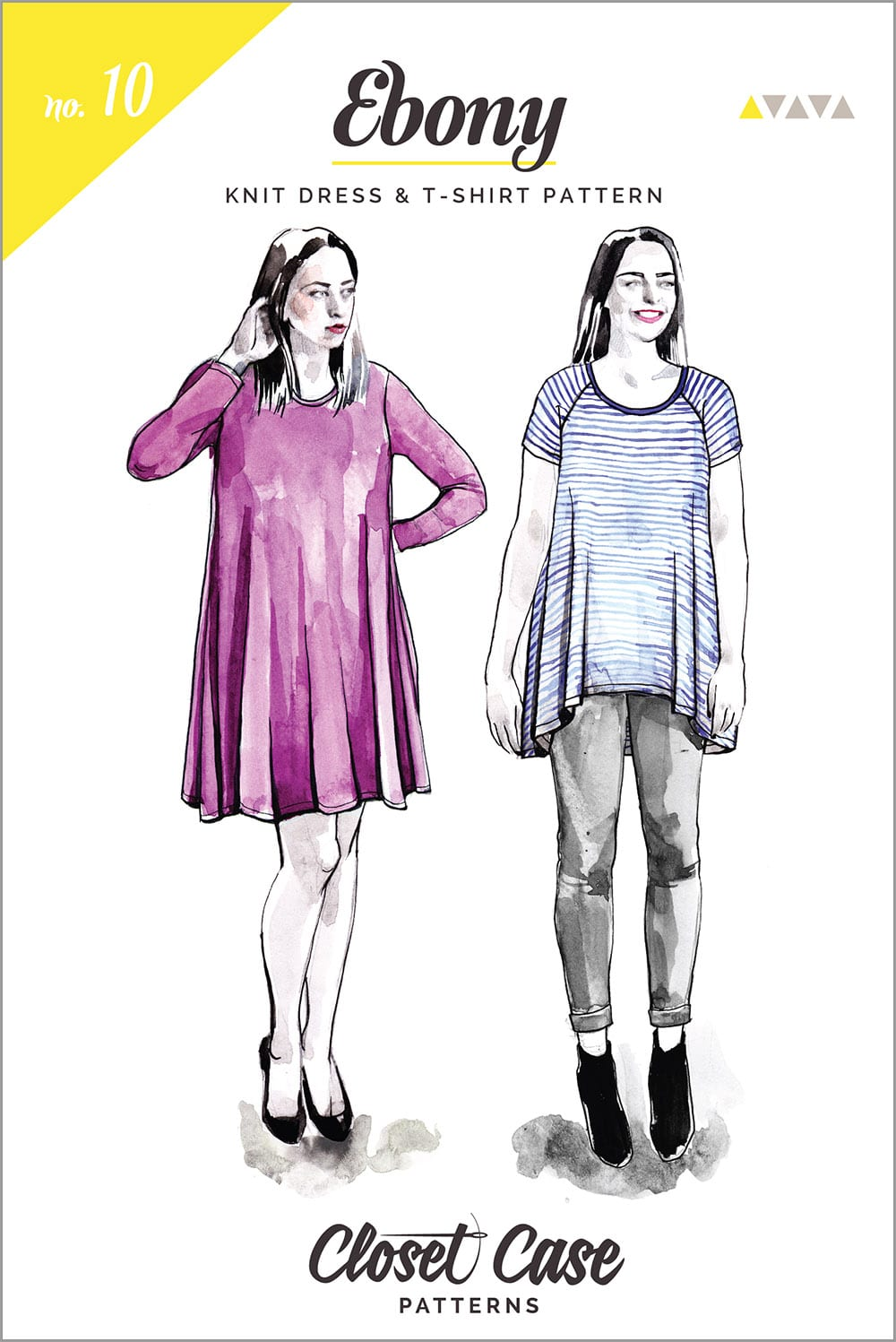 The Ebony Tee // T-shirt & knit dress pattern // Closet Case Patterns