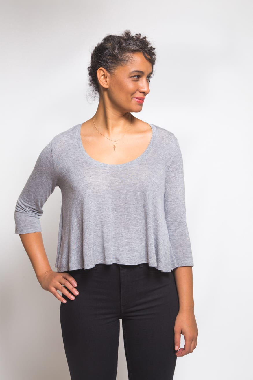 T Shirt Knitting Pattern : Introducing the Ebony Tee Pattern Closet Case Patterns