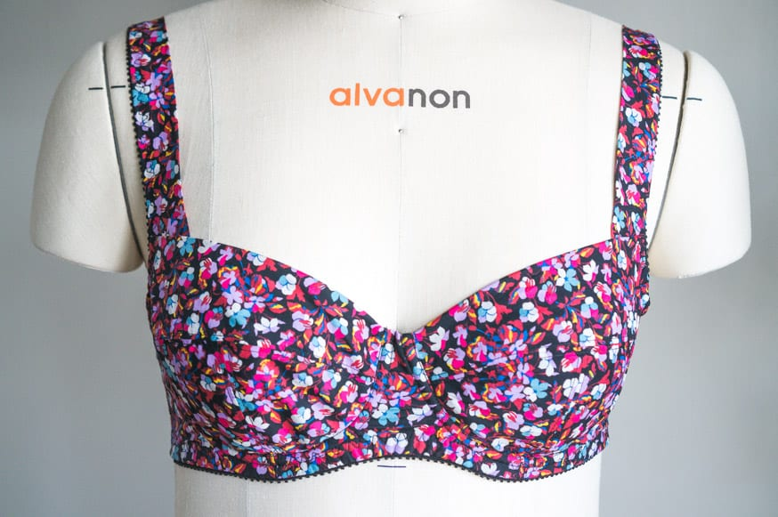 Marlborough Bra in Liberty Print Tana Lawn // Closet Case Patterns