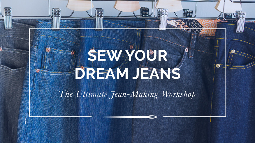 Sew Your Dream Jeans is a 13 lesson, +4 hour long comprehensive online course that guides you through the process of sourcing, designing, stitching and finishing your own custom-fit jeans. // From Closet Case Patterns