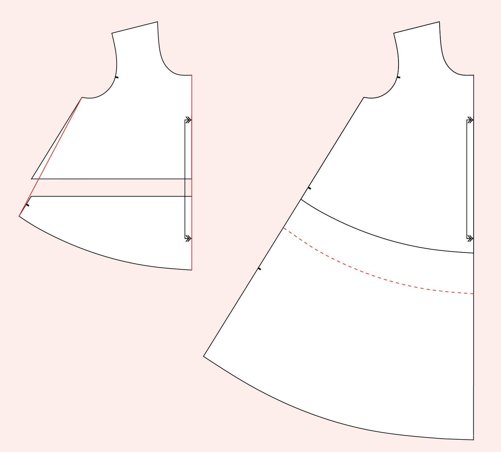Lengthening cropped tee // Ebony Tee knit dress & t-shirt pattern // Closet Core Patterns